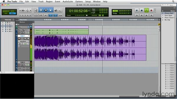 Editing the start and end of the cue: Music Editing for TV and Film in Pro Tools