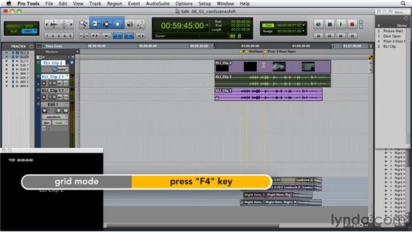 Conforming the edit to picture if the scene has shifted: Music Editing for TV and Film in Pro Tools
