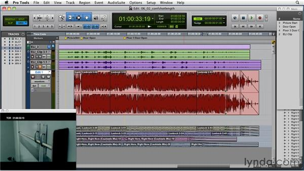 Conforming the edit if a shot's length changes within the scene: Music Editing for TV and Film in Pro Tools