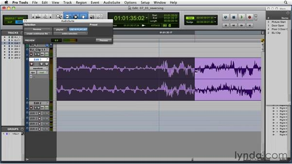 Removing profanities by reversing audio: Music Editing for TV and Film in Pro Tools