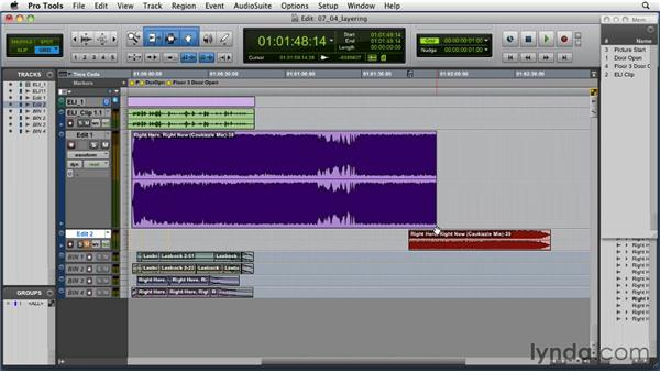 Layering audio: Music Editing for TV and Film in Pro Tools