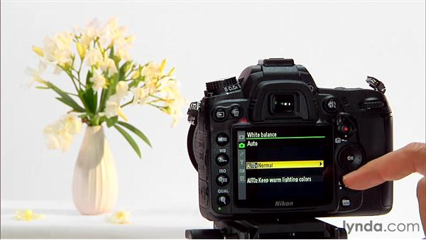 Adjusting white balance automatically: Shooting with the Nikon D7000