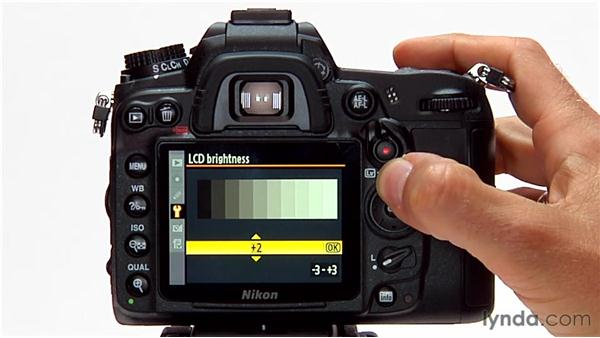 Adjusting LCD brightness: Shooting with the Nikon D7000
