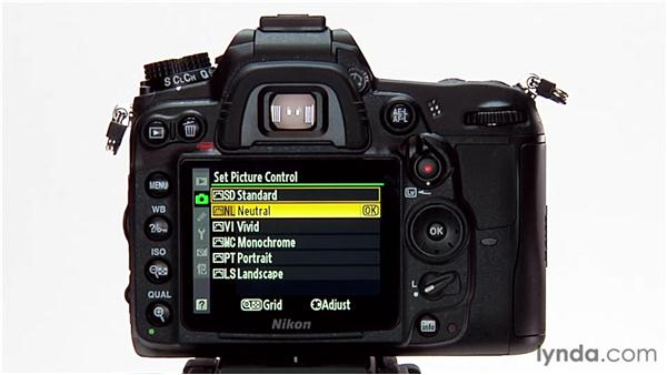 Selecting a picture control: Shooting with the Nikon D7000