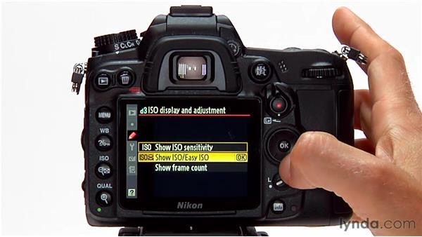 ISO display and adjustment: Shooting with the Nikon D7000