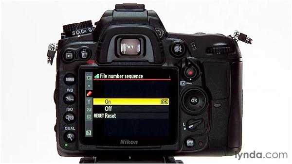 File number sequence: Shooting with the Nikon D7000