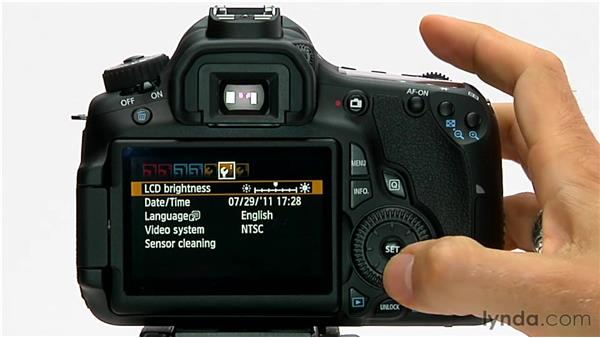 Setting the language: Shooting with the Canon 60D