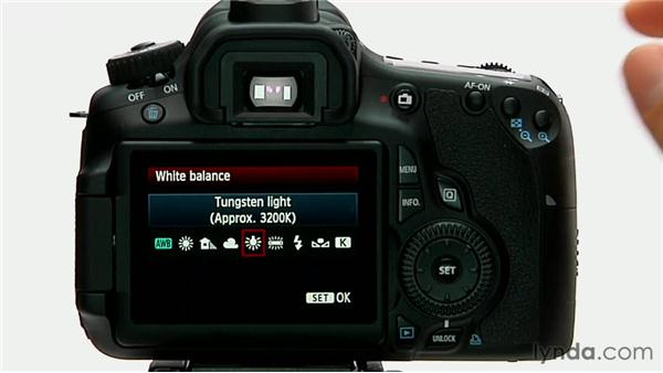 Using white balance presets: Shooting with the Canon 60D