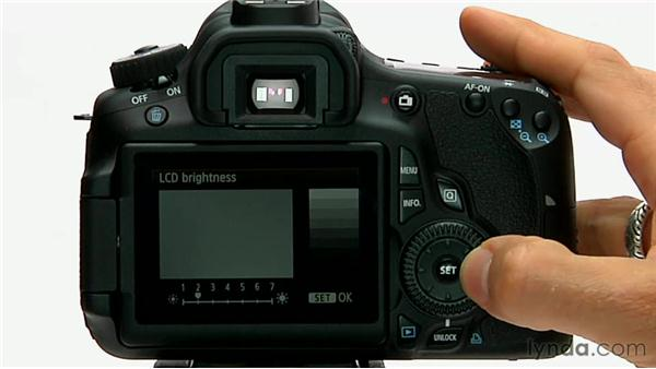 LCD brightness: Shooting with the Canon 60D