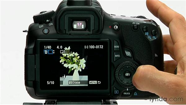 Protecting and deleting images: Shooting with the Canon 60D