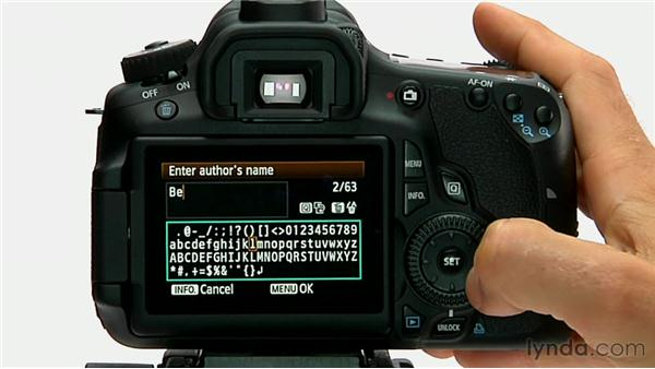 Copyright information: Shooting with the Canon 60D