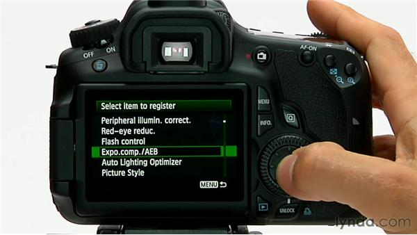 Custom menu: Shooting with the Canon 60D
