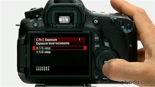 Exposure level increments: Shooting with the Canon 60D
