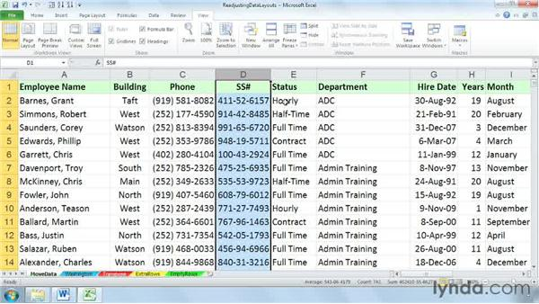 Moving and inserting rows and columns of data with a simple drag: Cleaning Up Your Excel 2010 Data