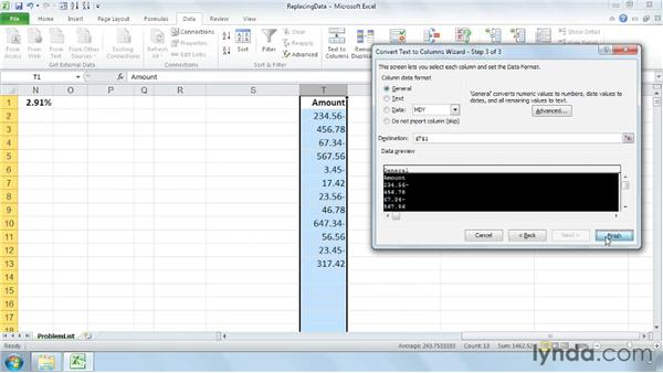 Removing trailing minus signs while converting data to negative: Cleaning Up Your Excel 2010 Data