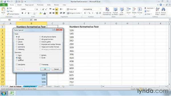 Converting text data to values : Cleaning Up Your Excel 2010 Data