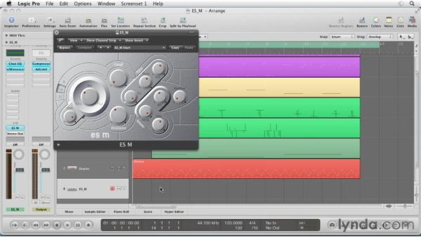 Getting started with the ES M: Virtual Instruments in Logic Pro