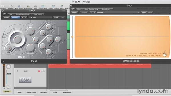 Tone shaping with the lowpass filter: Virtual Instruments in Logic Pro