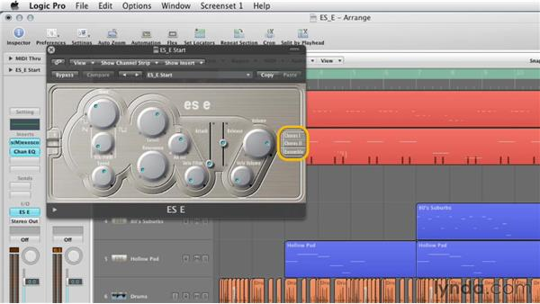 Getting started with the ES E: Virtual Instruments in Logic Pro