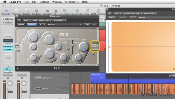 Understanding the signal flow of the ES E: Virtual Instruments in Logic Pro