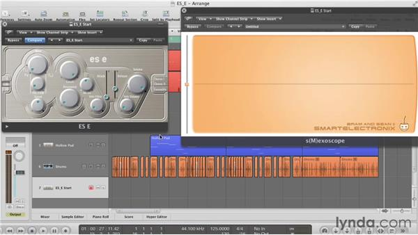 Selecting a waveform: Virtual Instruments in Logic Pro