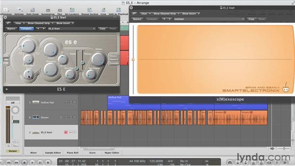 Using the Vibrato/PWM dial: Virtual Instruments in Logic Pro