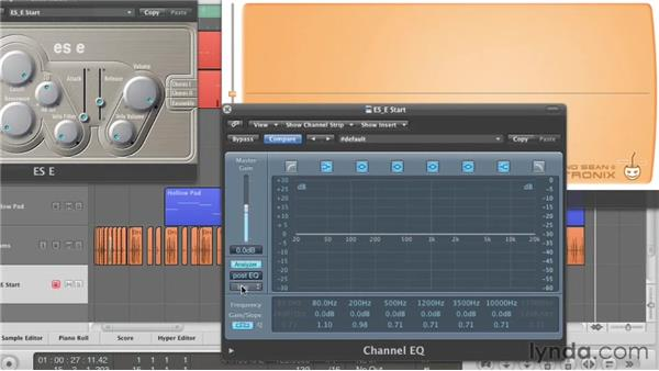 Using the ES E lowpass filter: Virtual Instruments in Logic Pro