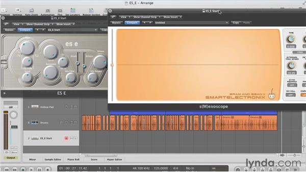 Shaping the amplitude with the Attack and Release envelope: Virtual Instruments in Logic Pro