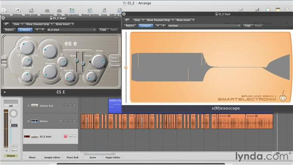 Shaping the filter with the Attack and Release envelope: Virtual Instruments in Logic Pro