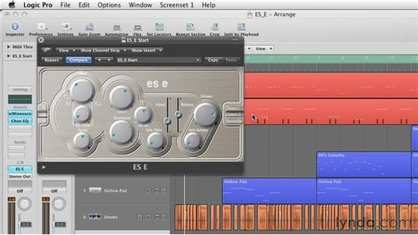 Using the Chorus and Ensemble settings: Virtual Instruments in Logic Pro
