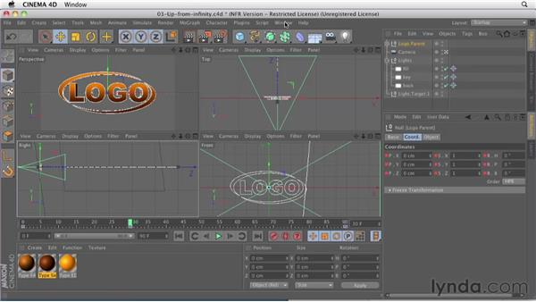 002 Learning the basics of 3D logo animation : Design in Motion