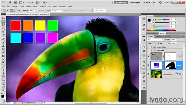 Viewing channels in color: Photoshop Masking and Compositing: Fundamentals