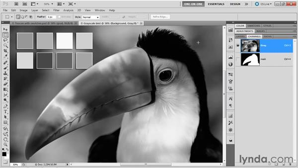 Single-channel grayscale: Photoshop Masking and Compositing: Fundamentals