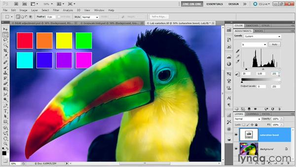 A practical application of Lab: Photoshop Masking and Compositing: Fundamentals