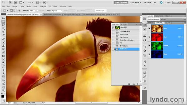 Creating a unique multichannel effect: Photoshop Masking and Compositing: Fundamentals