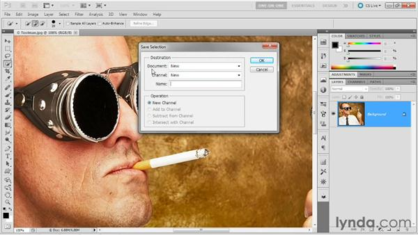 Making an alpha channel: Photoshop Masking and Compositing: Fundamentals