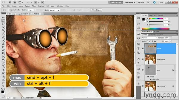 Loading a selection from a layer: Photoshop Masking and Compositing: Fundamentals