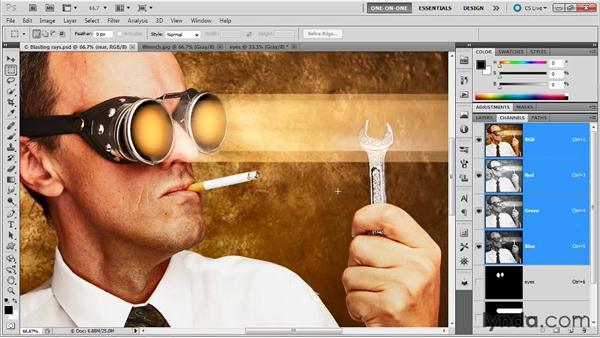 Loading a selection from another image: Photoshop Masking and Compositing: Fundamentals