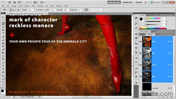 Viewing a mask as a rubylith overlay: Photoshop Masking and Compositing: Fundamentals