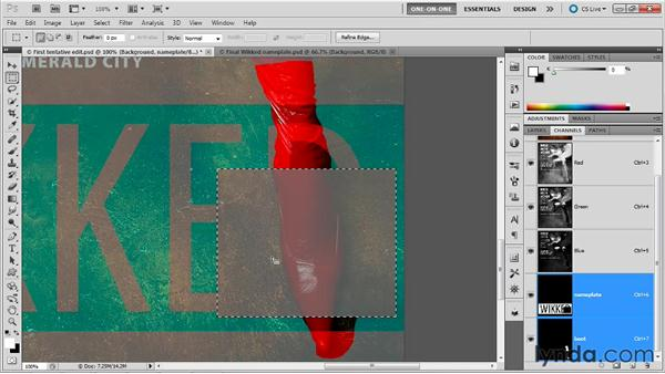 Changing a mask's overlay color: Photoshop Masking and Compositing: Fundamentals