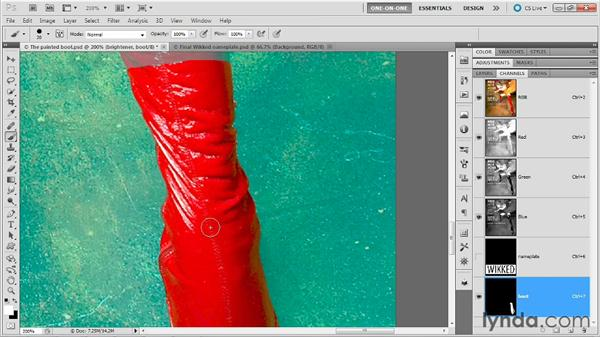 Cleaning up and confirming: Photoshop Masking and Compositing: Fundamentals