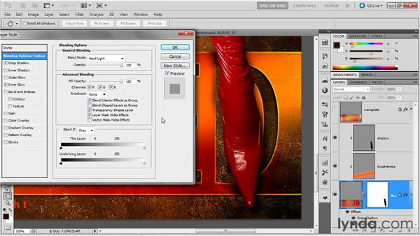 Unclipping and masking a shadow: Photoshop Masking and Compositing: Fundamentals