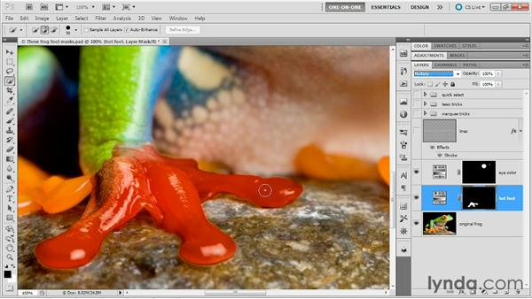 Combining Quick Selection and Smudge: Photoshop Masking and Compositing: Fundamentals