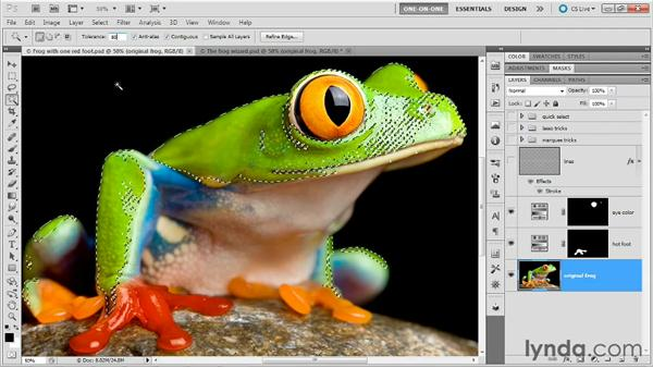 Making a good selection with the Magic Wand: Photoshop Masking and Compositing: Fundamentals