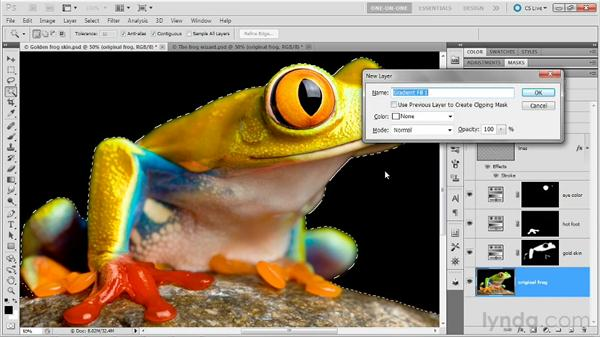 Selecting and replacing a background: Photoshop Masking and Compositing: Fundamentals