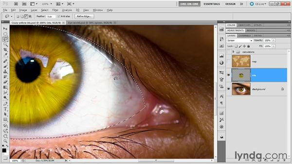 Selecting an eye: Photoshop Masking and Compositing: Fundamentals
