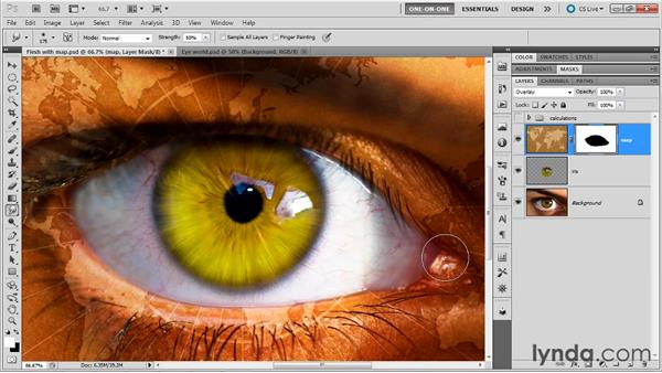 Masking and blending a texture into skin: Photoshop Masking and Compositing: Fundamentals