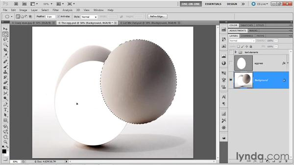Moving selection outlines vs. selected pixels: Photoshop Masking and Compositing: Fundamentals