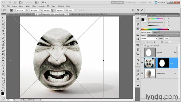 Pasting an image inside a selection: Photoshop Masking and Compositing: Fundamentals