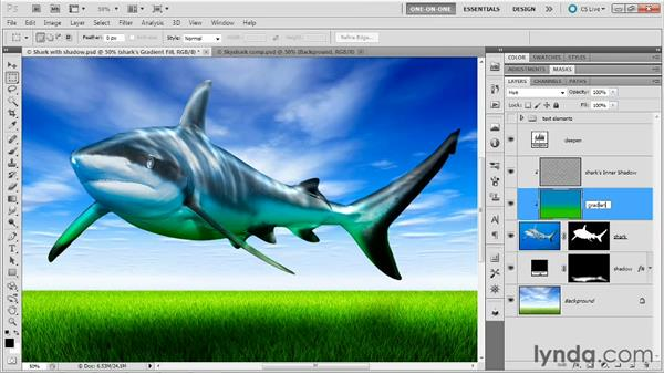 Releasing and masking layer effects: Photoshop Masking and Compositing: Fundamentals